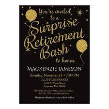 retirement party invitation gold balloons zazzle