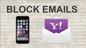 yahoo email junk mail how to block emails on yahoo mobile app youtube