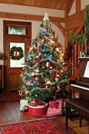 christmas trees with colored lights decorating ideas old fashioned christmas tree decorations ideas mariannemitchell me