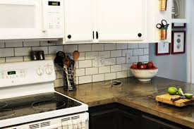 kitchen subway tile kitchen backsplash electric stove white