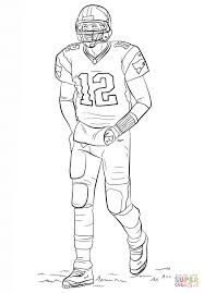 tom brady coloring page free printable coloring pages