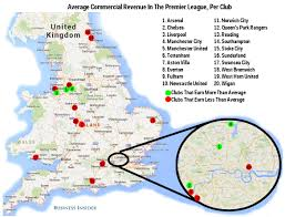 Mls Teams Map Epl Vs Nfl Commercial Revenue Business Insider