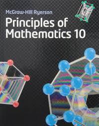 Mcgraw Hill Desk Copies Principles Of Mathematics 10 Barbara Canton Chris Dearling