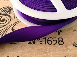 satin bias purple colour satin bias 19mm folded fabric trimming