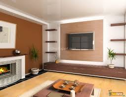 Brown Accent Wall by Living Room Painting Brown
