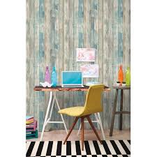 roommates blue distressed wood peel and stick wall d eacute cor