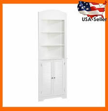 small white corner cabinet for kitchen details about corner cabinet small bathroom shelves storage organizer kitchen hutch white