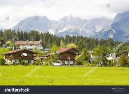 beautiful view austrian alps oberndorf tirol stock photo 518965015