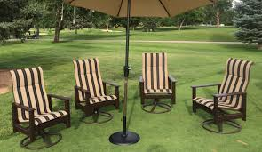 Sunbrella Patio Furniture Sets - high back outdoor swivel rocker made with 20yr marine grade