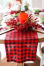 buffalo check table runner 6 ideas for a fabulously plaid christmas table design improvised