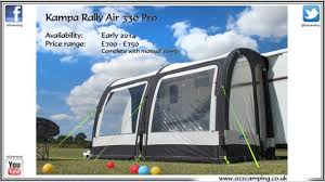 New Caravan Awnings A2zcamping Co Uk Present The All New Kampa Rally 330 Air Pro