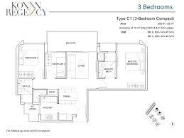 Compact Floor Plans 3 Bedroom Compact Kovan Regency