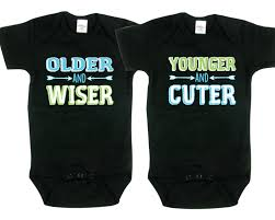 twin boys gifts older and wiser younger and cuter twin boy