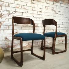 chaise traineau baumann 4 chaises baumann modèle traineau en palisssandre bleu pétrole beloben