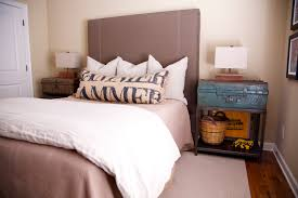 trunk style bedside tables add a pop of color to any space this blue trunk makes the most