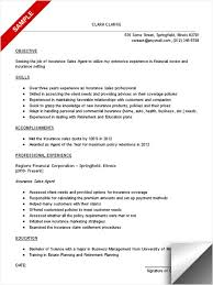 Business To Business Sales Resume Sample Insurance Agent Resume Examples Agent Resume Example Insurance