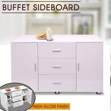 buffet sideboard high gloss storage cabinet dresser table cupboard