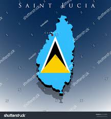 Saint Lucia Map Vector 3d Saint Lucia Map Flag Stock Vector 411523936 Shutterstock