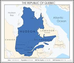 Map Of Quebec The Republic Of Quebec Imaginarymaps
