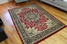 Purple And Black Area Rugs Burgundy Green Beige Black Beige 5x7 5 2x7 2 Isfahan Area Rug
