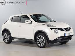 white nissan car nearly new nissan for sale juke dci tekna white nissan london west