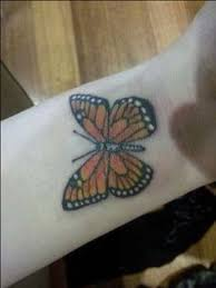 monarch butterfly on side leg monarch butterfly wrist