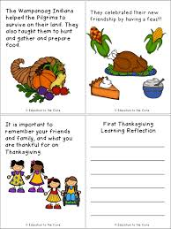 thanksgiving literacy activity education to the