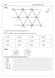 vectors for gcse foundation tier by aingarth teaching resources