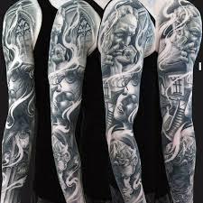 female portrait unique mens full sleeve tattoo ideas sleeve
