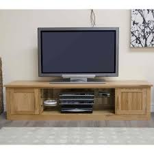 Tv Cupboard Arden Solid Oak Living Room Furniture Large Widescreen Tv Cabinet
