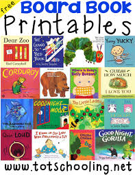 board book printables for toddlers board book activity board