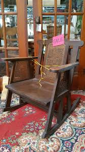 Mission Oak Rocking Chair Furniture Crescent Moon Antiques And Salvage
