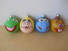 m painted ornament set of 3 shipping m and m 28 00 via etsy