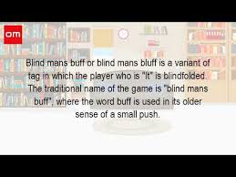 What Is Blind What Is The Game Blind Mans Bluff Youtube