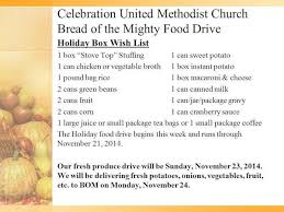 thanksgiving food drive celebration umc