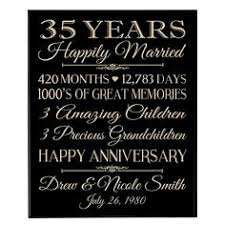 35th anniversary gift 35th wedding anniversary gift ideas for parents pinteres
