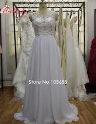 aliexpress com buy 2017 long chiffon beaded beach wedding dress