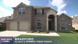 first texas homes the bradford floor plan video tour youtube