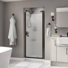 800 Pivot Shower Door by Delta Phoebe 33 In X 64 3 4 In Semi Frameless Contemporary Pivot