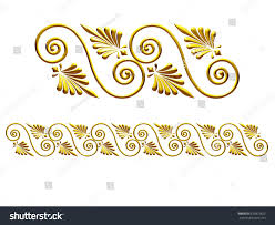 golden ornamental segment edging version stock