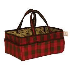 amazon com trend lab northwoods storage caddy red tan nursery