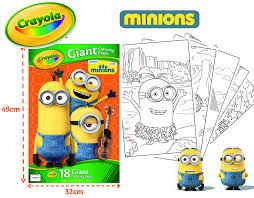 crayola minions giant coloring pages book amazon co uk toys u0026 games