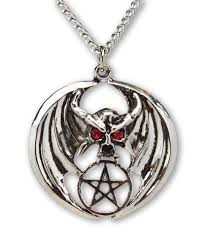 metal pendant necklace images Pentacles and pentagrams real metal jewelry jpg