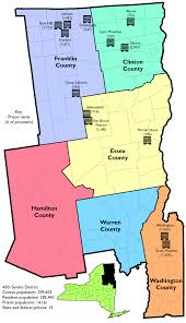 A Map Of New York State by Prison Populations In New York State Senate District 45 Prison