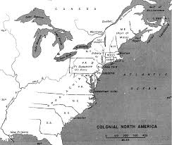 map of colonies colonial america