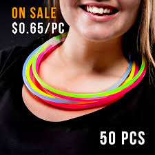 glow necklaces glow necklace 22inch 50pcs mixed