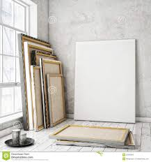 Interior Frames Mock Up Posters Frames Stock Illustration Image 55096804