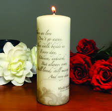 memorial candle those we personalized memorial candle
