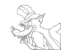 bad wolf coloring pages download print free