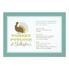 thanksgiving potluck invitations zazzle